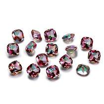 1.5-2.5ct Top Brand Rainbow Mystery Topaz Loose Gemstone 9x9MM Square Cut Stones Jewelry Decoration Stone 10 pcs/set