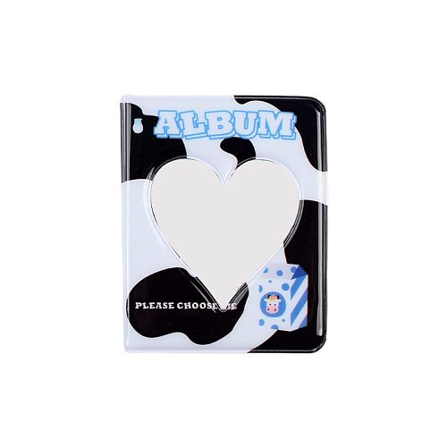 3 Inch 36 Pockets PVC Photo Album Hollow Heart Interstitial Case for Name Card Mini Scrapbooking Storage Wedding Gift
