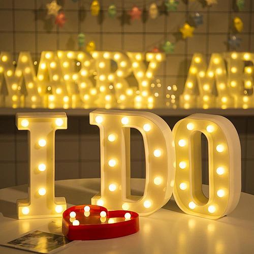 16/22CM DIY Luminous Lights LED Letter Night Light Creative Letters Alphabet Number Battery Lamp Romantic Party Decoration
