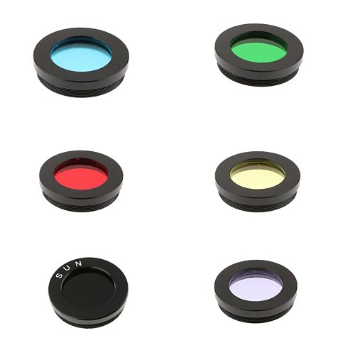 Astronomy Telescope Color Filter for Moon Mars Planet Nebula Film Improve Contrast 1.25inch/31.7mm 6Pieces