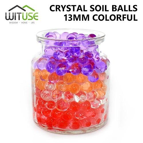 1000pcs Crystal Soil Hydrogel Gel Polymer Water Beads Orbiz Flower/Wedding/Decoration Growing Water Balls Home Decoration