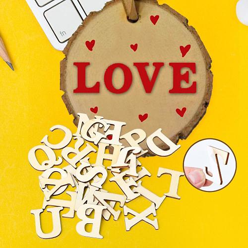 26 English Alphabet A-Z Letters Wood Number Wooden Household Arts Crafts Letter Home Decoration Photography Props