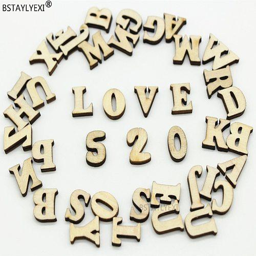 208pcs 8set 26 English  alphabet Letters Wood number 312 pcs Wooden Household decorative arts crafts  letter digital display