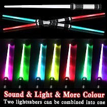 Flashing Sword Toy Lightsaber Scalable Start Wars Cosplay Sword Battery Operated Sound and light for Children Halloween Gifts