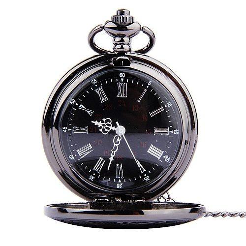Classic Temperament Pocket Watch Retro Romantic Double Display Pocket Watch Quartz Pocket Watch Clock Zegarek meski Gift