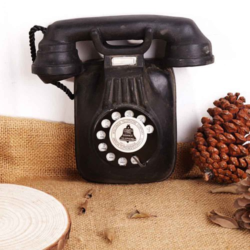 Vintage Art Crafts DIY Resin Bar Decor Simulation Home Ancient Ways Wall Mounted Hotel Accessories Restaraunt Telephone Ornament
