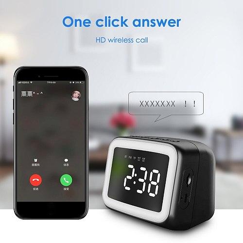 Wireless Bluetooth 5.0 LED Mirror Display Alarm Clock FM Radio TF Music Player Desktop clock Home Decoration