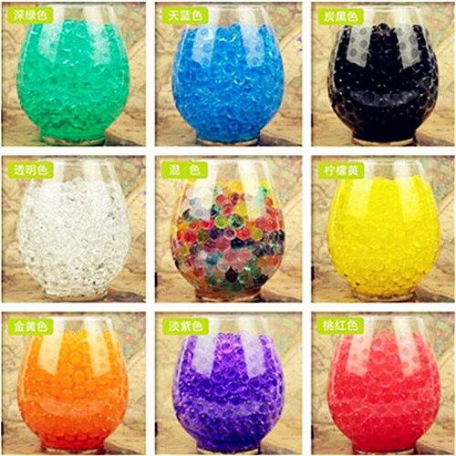 5000 pcs/bag Crystal Soil Hydrogel Gel Polymer Water Beads Flower/Wedding/Decoration Growing Water Balls Big Home Decor