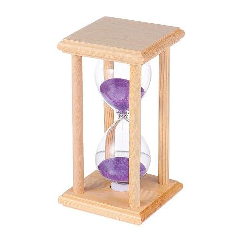Wooden Frame Hourglass Glass Transparent Glass Sandglass Restaurant Accessories