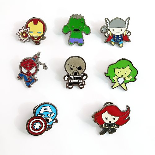 Marvel Captain America Thor Iron Man Enamel Pins Metal Brooch Backpack Bag Collar Lapel Badges Men Women Fashion Jewelry Gifts