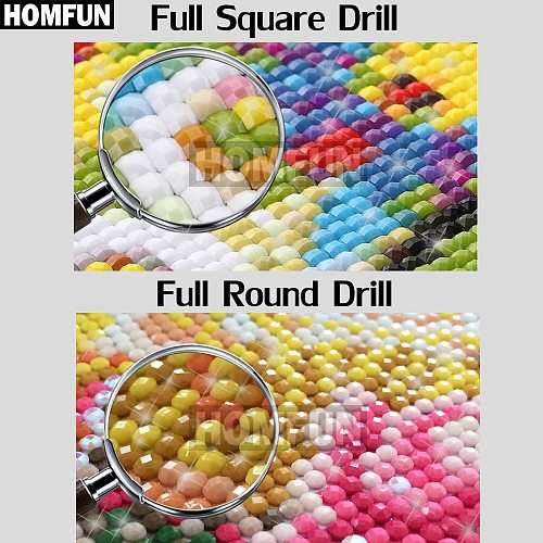 HOMFUN Full Square/Round Drill 5D DIY Diamond Painting  Red flower  3D Diamond Embroidery Cross Stitch Home Decor A18717