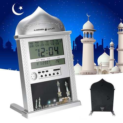 Azan Clock Muslim Prayer Calendar Islamic Mosque Muslim Wall Clock LCD Digital Alarm Clock Ramadan Home Decor Taqweem System