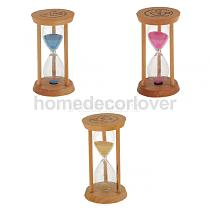 Wood Frame Sandglass Timer Teeth Brushing Special Needs Therapy Math Exercising Hourglass 3 Minutes
