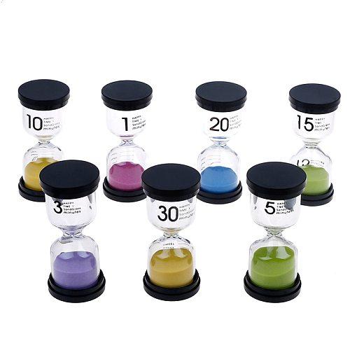 1Pcs 7 Colors 1/3/5/10/15/20/30 Minutes Hourglass Timer For Children Brush Teeth Home Ornament Desktop Mini Sand Clock Timers