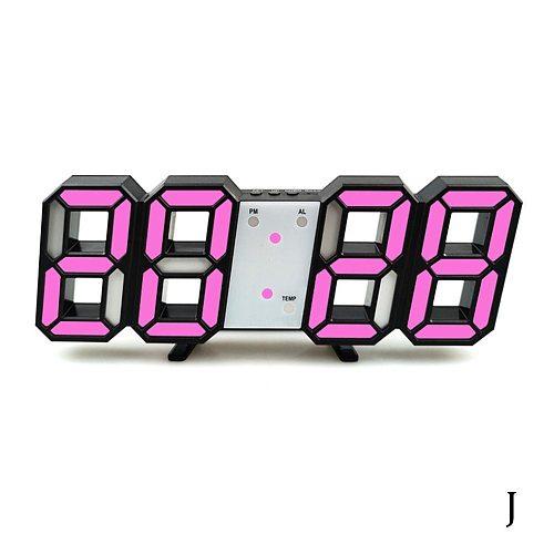 3d digital clock alarm clock digital wall clock LED gift alarm electronic clock clock clock large 1999 temperature Y8K1