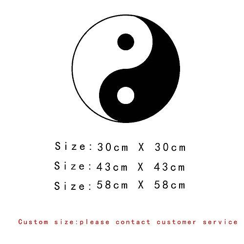 Wall stickers Chinese traditional pattern Tai Chi Yin Yang fish personality creative decoration PVC wall stickers
