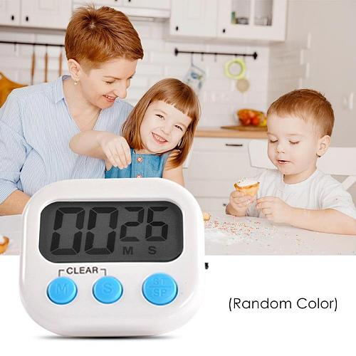 Kitchen Timer ABS Telescopic Bracket Loud Alarm Multi-function Cooking Count Up Countdown Alarm Big Digits Sound Magnet Clock