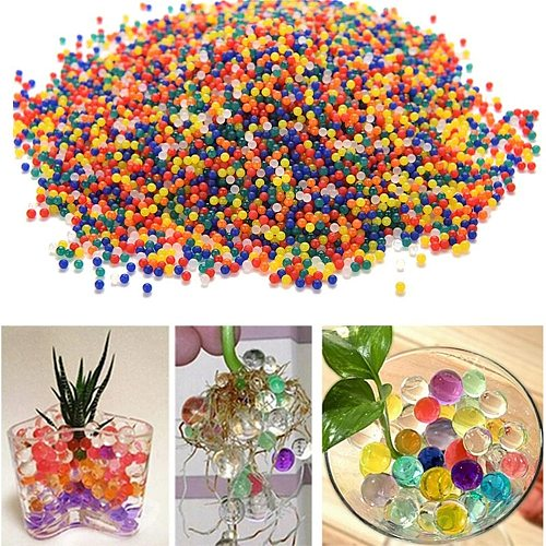 lot Pearl Shaped Crystal Soil Water Beads Mud Grow Magic Jelly Balls  Home  Hydrogel Water Beads