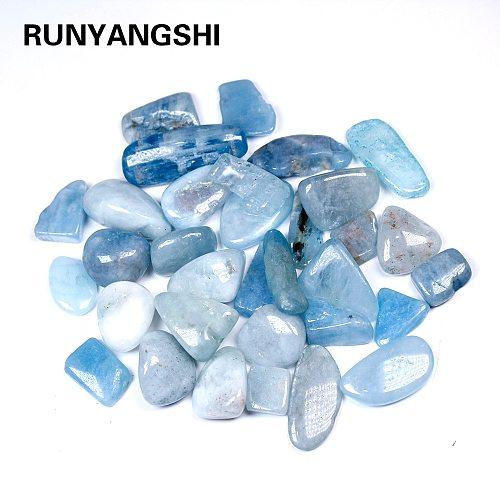 Natural crystal stone Aquamarine Protolith  Tumbled Stone Healing Reiki Crystal Chakra Home Decor Garden Flower Decorative