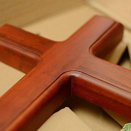 32cm Wooden Pendant Jesus Cross Craft Decor Wall Mounted Hanging Ornament Wall Decoration For Home Decor