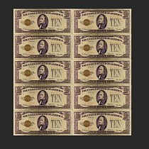 24k Gold Foil Banknotes Gold Plated 1928 USA Bill 10 Dollar Collection Currency Money Best Decor Gift