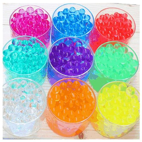 500pcs magic Crystal Soil Mud Children Toy Water Beads for kids flowers Growing Up Water Hydrogel Balls Home Decor Potted