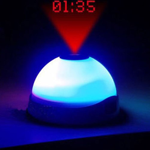 Projection Time Night Light LED Display Children Room Kids Mini Clock Colour Change Alarm