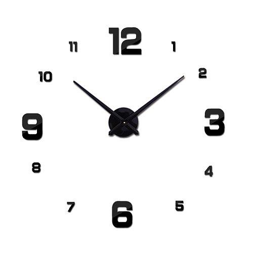 Hot Sale New Wall Clock Clocks Watch Stickers Diy 3d Acrylic Mirror Home Decoration Quartz Balcony/courtyard Needle europe
