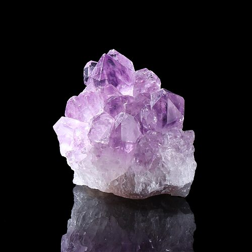 1Pcs Natural Amethyst Cluster Quartz Crystal Mineral Specimen Healing Stones Gift Rough Ore Geography Teaching Dream Home Decor