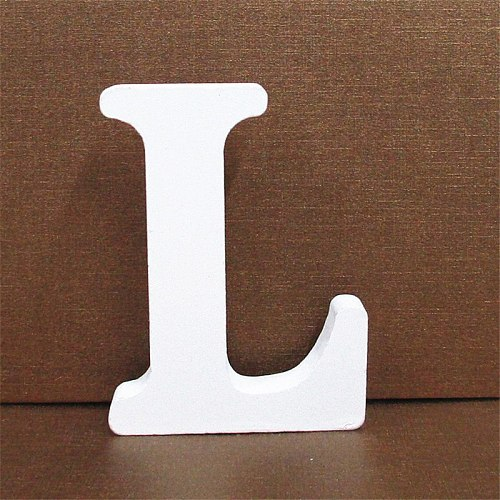 Letters Decor 1Pc 10CMX10CM White Wooden Letter Numbers English Alphabet DIY Personalised Name Design Art Craft Heart Wedding