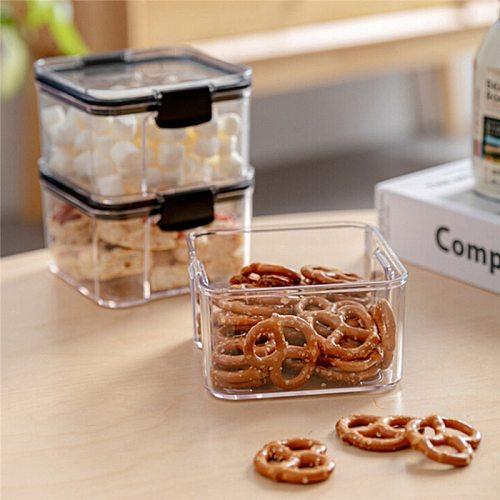 460-1800ml Food Storage Bottle Container Coarse Cereals Grains Jar cover Bottle Fresh Pot Kitchen Storage jars Sealing Box