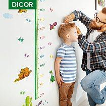 Cartoon Dinosaur Height Measure Wall Sticker for Kids Rooms Growth Chart Nursery Room Decor Wall Art Home Decoration Accessories