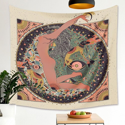 Cilected Flower Woman Skull Tapestry Wall Hanging Home Decoration Tapestry Background Cloth Wall Hanging Bedroom Wall Covering