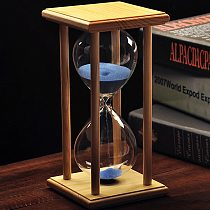 Multi Purpose Hourglass Sandglass Timer Various Frame and Sand Color 30/60 Minute for Decoration