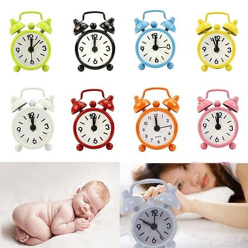 Creative alarm clock Cute Mini Metal Small Alarm Clock Electronic Small loud alarm clock despertador часы настольные