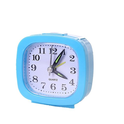 Square Small Bed Compact Travel Quartz Kawaii Clock Beep Alarm Clock Desk Decor Table Clock Analog Clock Будильник Детский