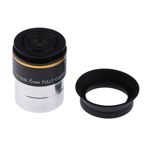 1.25'' 6mm Plossl PL Eyepiece Fully HD Coated Lens For Astronomical Telescope