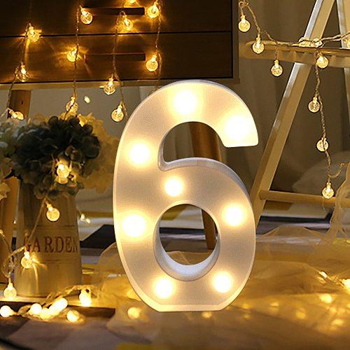 Alphabet Number Digital Letter LED Light White Light Up Decoration Symbol Indoor WALL Decor Wedding Party Window Display Light20
