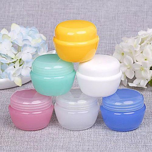 3pcs 5/10/20/30ml Empty PP Bottle Plastic Nail Art Container Cosmetic Jar Small Sample Cream Pot Nail Gel Powder Box Makeup Tool