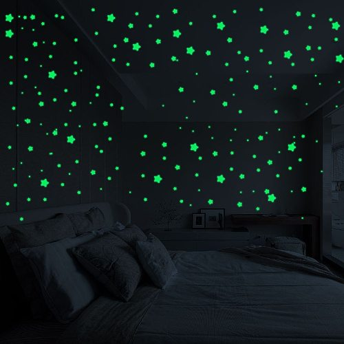 127Pcs 3D Stars Glow In The Dark Wall Stickers Luminous Fluorescent Wall Stickers For Kids Baby Room Bedroom Ceiling Home Decor