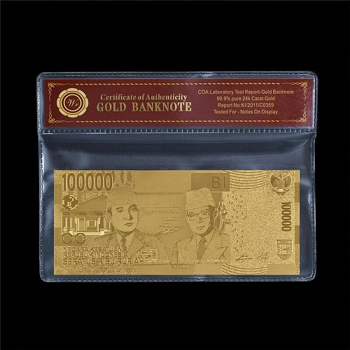 WR 2019 High Quality AAA Indonesia 100 thousand Home collection commemoration banknote with COA Frame gift for friend