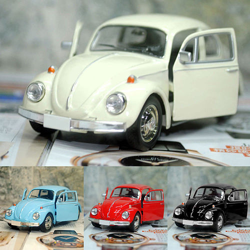 2020 Newest Arrival Retro Vintage Beetle Diecast Pull Back Car Model Toy for Children Gift Decor Cute Figurines Miniatures