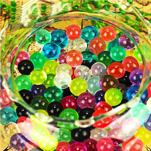 100pcs/500pcs Crystal Soil Water Beads Paintball Mud Grow Magic Jelly Hydrogel Balls Home Plant Wedding Decoration for Flowers