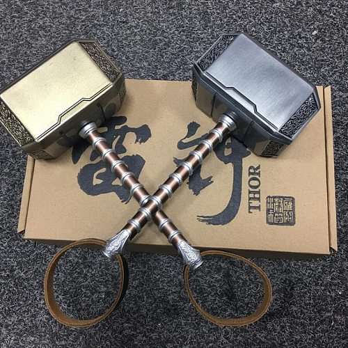 [Metal Made] Cosplay Collection The   1: 1 Simulation Hammer Toy Child Adult Party Costume  Hammer Replica Model
