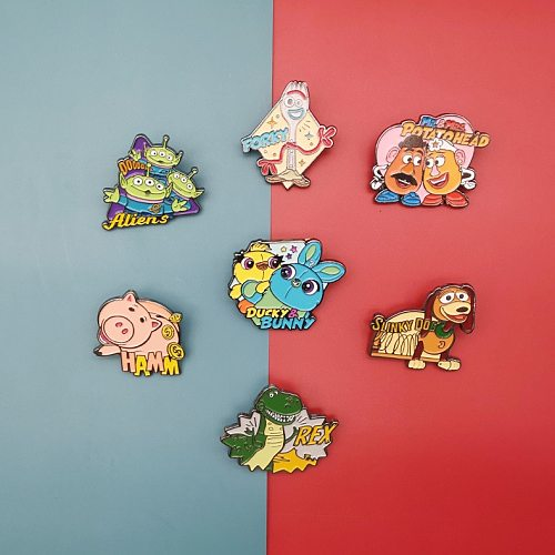 Disney Toy Story Cartoon Brooch Badge Jewelry Schoolbag Clothes Pin Enamel Brooches Badge Jewelry Children Gift