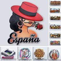 Spain Madrid Fridge Magnets Tourist Souvenir Cordobam Barcelona Sevilla Toledo Magnetic Refrigerator Stickers Collection Gifts