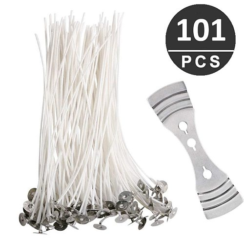 100pcs Cotton Candle Wicks +Candle Wicks tool Smokeless Wicks Candle Oil Lamps DIY Candles Making Supplies Candle Accessories