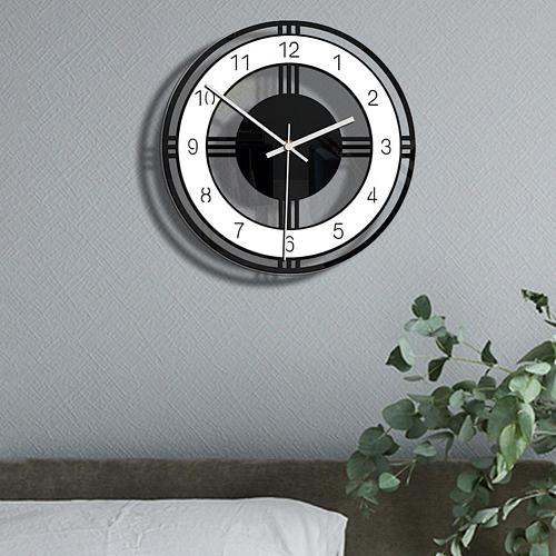 Fashion Simple Acrylic Round Dial Digital Mute Wall Clock Office Room Wall Hanging Ornament Exquisite Home Decoration classical