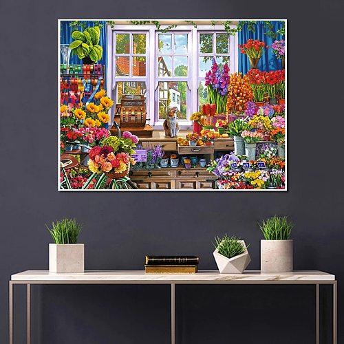 5D DIY Diamond Painting Store Kit Full Drill Diamond Embroidery Cross Stitch Sale Landscape Wall Art Decorations New Arrival