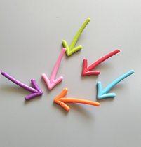 6pcs Qualy Colorful Arrow Magnet Refrigerator Sticker Whiteboard Message Magnetic Sticker Fridge Magnet Interesting Creative